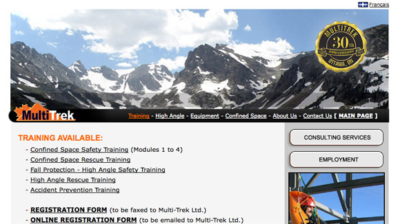 Multi-Trek Ltd. Website Preview Image