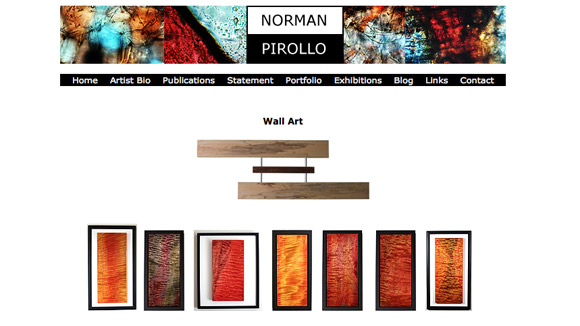 Norman Pirollo Website Preview Image