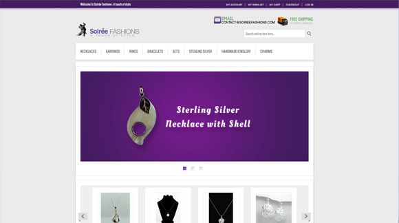 Soirée Fashions Website Preview Image