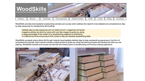 Woodskills Website Preview Image